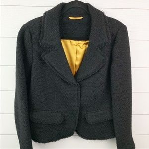 Boden Wool Shag Black Professional Blazer